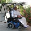 Zonnepanelen en de elektrische rolstoel. Super.